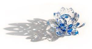 Duidelijk Crystal Lotus Blossom Flower Royalty-vrije Stock Afbeelding
