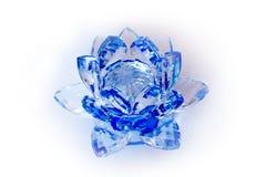Duidelijk Crystal Lotus Blossom Flower Stock Afbeeldingen