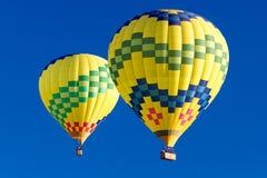 Duidelijk-hemel Hete Lucht Ballooning royalty-vrije stock fotografie