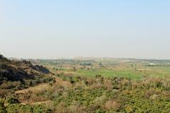 Duidelijk land van kalar kahar vallei in Punjab royalty-vrije stock foto