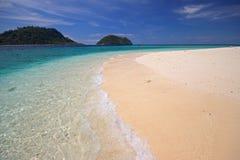 Duidelijk overzees en strand Royalty-vrije Stock Fotografie