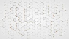 Duidelijk patroon abstract hexagon wit als achtergrond Stock Afbeelding