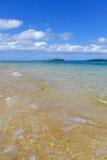 Duidelijk water bij Pangaimotu-eiland dichtbij Tongatapu-eiland in Tonga Stock Afbeelding