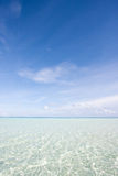 Duidelijk water in de Maldiven Royalty-vrije Stock Afbeelding