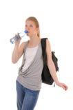 Duidelijk water drinkind royalty-vrije stock fotografie