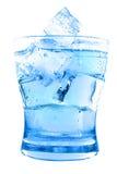 Duidelijk water in glas royalty-vrije stock foto's