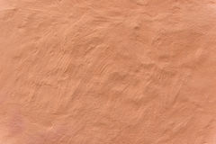 Duidelijke bleke oranje muur Royalty-vrije Stock Foto's