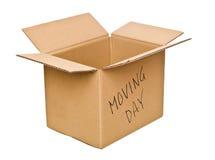 Duidelijke de doos van het karton Bewegende Dag royalty-vrije stock foto's