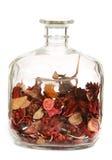 Duidelijke decoratieve fles Stock Foto