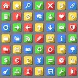 Duidelijke geplaatste pictogrammen stock illustratie
