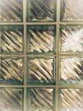 Duidelijke glasachtergrond, huismuur royalty-vrije stock afbeelding