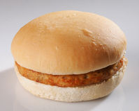 Duidelijke Hamburger royalty-vrije stock afbeelding