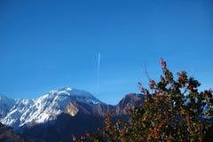 Duidelijke heldere blauwe hemel in de herfst royalty-vrije stock afbeelding