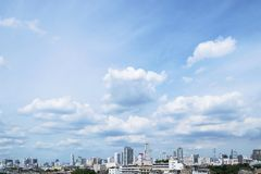 Duidelijke hemel van Bangkok Stock Foto