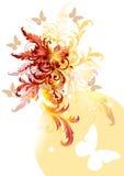 Duidelijke kleuren swirly achtergrond Stock Foto