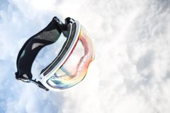 Duidelijke Lens Ski Goggles royalty-vrije stock afbeeldingen