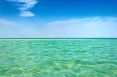Duidelijke overzeese horizon Stock Foto