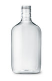 Duidelijke plastic alcoholflessen stock afbeeldingen