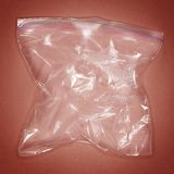 Duidelijke plastic resealable zak royalty-vrije stock foto's