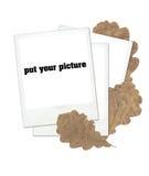 Duidelijke polaroidframes Stock Afbeeldingen
