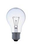 Duidelijke schroef lightbulb op wit Royalty-vrije Stock Afbeeldingen
