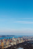 Duidelijke Skys en Cityscape Royalty-vrije Stock Fotografie