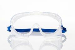 Duidelijke veiligheidsbril tegen Stock Afbeelding