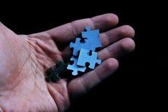 Duidelijke witte puzzel royalty-vrije stock foto's