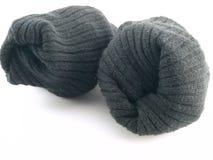 Duidelijke Zwarte Sokken op Witte Achtergrond Stock Fotografie