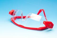 Duidelijke zwarte veiligheidsbril voor beroeps Royalty-vrije Stock Foto's