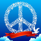Duif die Vrede vormt stock illustratie