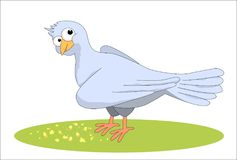 duif en crumbs royalty-vrije illustratie