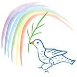 Duif van vrede (vector) royalty-vrije illustratie