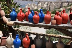 Duifvallei in Cappadocia, Turkije stock foto