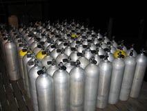 Duik tanks Stock Foto's