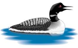Duiker Zwemmende Illustratie vector illustratie