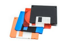3 5-duim diskette Witte achtergrond Stock Afbeelding