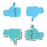 Duim op pictogrammen stock illustratie