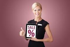 Duimen omhoog en verkoop Stock Afbeeldingen