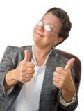 Duimen omhoog voor Succes Stock Foto