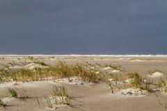 Duin die zich op een stormachtig strand vormen Royalty-vrije Stock Fotografie