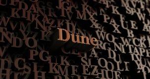 Duin - Houten 3D teruggegeven brieven/bericht royalty-vrije illustratie