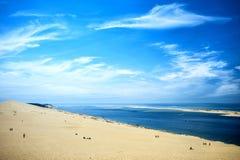 Duin van Pilat Dune du Pyla - het langste zandduin de Baai in van Europa, Arcachon, Aquitaine, Frankrijk, de Atlantische Oceaan Royalty-vrije Stock Afbeelding