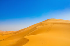 Duinen in de woestijn van de Sahara Royalty-vrije Stock Fotografie