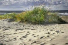 Duinen, oceaan en hemel Stock Afbeeldingen