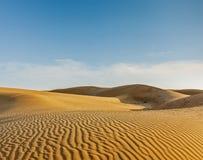 Duinen van de Woestijn van Thar, Rajasthan, India stock foto