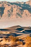 Duinen van het Mesquite de Vlakke Zand in het Nationale Park van de Doodsvallei, CA, de V.S. Royalty-vrije Stock Afbeeldingen