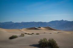 Duinen van het Zand van Mesquite de Vlakke Royalty-vrije Stock Foto's