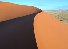 Duinen van Kalahari in Namibië Afrika Royalty-vrije Stock Foto's