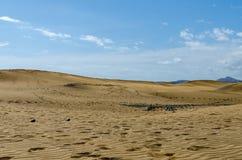 Duinen van Maspalomas, Gran Canaria royalty-vrije stock afbeeldingen